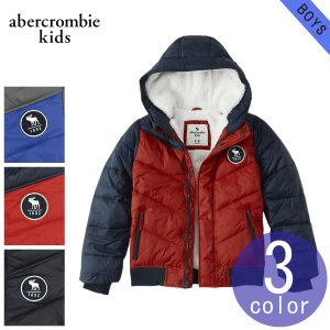 0acab1d983350 アバクロキッズ AbercrombieKids 正規品 子供服 ボーイズ アウター ダウン風パファージャケット the a f essential  puffer