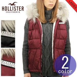 3d2c8013b6dc7 ホリスター HOLLISTER 正規品 レディース アウター ダウン風パファーベスト Sherpa-Lined Hooded Puffer Vest