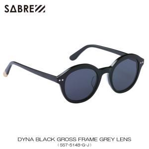 セイバー SABRE 正規販売店 サングラス めがね DYNA BLACK GROSS FRAME GREY LENS SUNGLASS SS7-514B-G-J|mixon