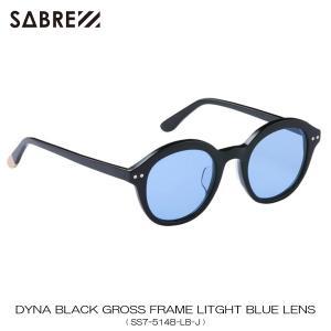 セイバー SABRE 正規販売店 サングラス めがね DYNA BLACK GROSS FRAME LITGHT BLUE LENS SUNGLASS SS7-514B-LB-J|mixon