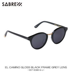 セイバー SABRE 正規販売店 サングラス めがね EL CAMINO BLACK GROSS FRAME GREY LENS SUNGLASS SS7-508B-G-J|mixon