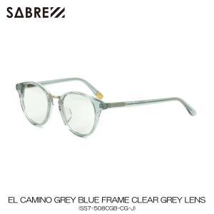 セイバー SABRE 正規販売店 サングラス エルカミーノ EL CAMINO GREY BLUE FRAME CLEAR GREY LENS SUNGLASS SS7-508CGB-CG-J|mixon
