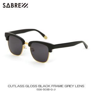 セイバー SABRE 正規販売店 サングラス めがね CUTLASS GLOSS BLACK FRAME GREY LENS SUNGLASS SS6-503B-G-J|mixon