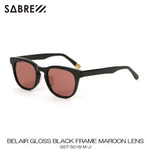 セイバー SABRE 正規販売店 サングラス めがね BELAIR GLOSS BLACK FRAME MAROON LENS SUNGLASS SS7-501B-M-J|mixon