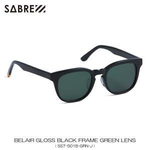 セイバー SABRE 正規販売店 サングラス めがね BELAIR GLOSS BLACK FRAME GREEN LENS SUNGLASS SS7-501B-GRN-J|mixon