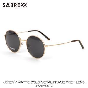 セイバー SABRE 正規販売店 サングラス めがね JEREMY MATTE GOLD METAL FRAME GREY LENS SUNGLASS SV260-1371J|mixon