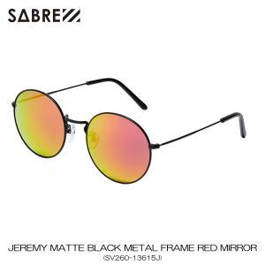 セイバー SABRE 正規販売店 サングラス めがね JEREMY MATTE BLACK METAL FRAME RED MIRROR LENS SUNGLASS SV260-13615J|mixon