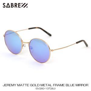 セイバー SABRE 正規販売店 サングラス めがね JEREMY MATTE GOLD METAL FRAME BLUE MIRROR LENS SUNGLASS SV260-13726J|mixon