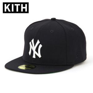 【ポイント10倍 2/23 0:00〜2/25 23:59まで】 キス キャップ メンズ 正規品 KITH 帽子  KITH X NEW ERA X NEW YORK YANKEES 59FIFTY CAPS NAVY WHITE mixon