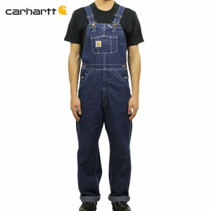 【エントリーで10%付与 2/26 0:00〜2/28 23:59】 カーハート CARHARTT 正規品 メンズ オーバーオール WASHED-DENIM BIB OVERALLS R07 - DST DARKSTONE|mixon