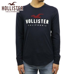 【エントリーで5%付与 2/16 0:00〜2/19 23:59】 ホリスター Tシャツ メンズ 正規品 HOLLISTER 長袖Tシャツ クルーネックTシャツ  Applique Logo Graphic T|mixon