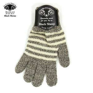 ブラックシープ BLACK SHEEP メンズ 手袋 M STRIPE KNIT GLOVE SGL07B TWIST-ECRU|mixon