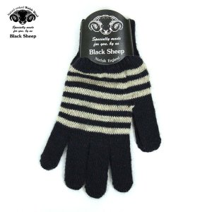 ブラックシープ BLACK SHEEP メンズ 手袋 M STRIPE KNIT GLOVE SGL07B NAVY-LIGHT GREY|mixon