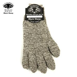 ブラックシープ BLACK SHEEP メンズ 手袋 HAND MADE 5FINGER KNIT GLOVE SM07B TWIST|mixon