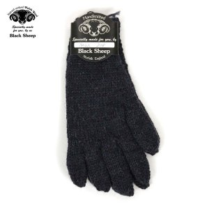 【エントリーで5%付与 4/6 0:00〜4/9 23:59】 ブラックシープ BLACK SHEEP メンズ 手袋 HAND MADE 5FINGER KNIT GLOVE SM07B DENIM MIX|mixon