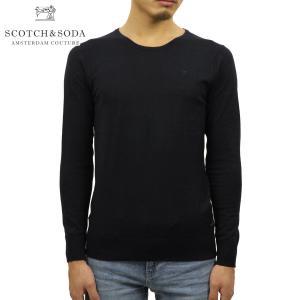 スコッチアンドソーダ セーター メンズ 正規販売店 SCOTCH&SODA クルーネックセーター BASIC CLASSIC COTTON CREW NECK PULL 132490 77 65401 NIGHT D|mixon