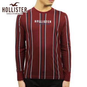 ホリスター Tシャツ メンズ 正規品 HOLLISTER 長袖Tシャツ クルーネックTシャツ ストライプ Stripe Logo Graphic Tee 323-243-2613-504|mixon