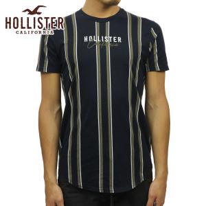 【エントリーで5%付与 2/16 0:00〜2/19 23:59】 ホリスター Tシャツ メンズ 正規品 HOLLISTER 半袖Tシャツ ストライプ Stripe Logo Graphic Tee 323-2|mixon