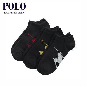 ポロ ラルフローレン POLO RALPH LAUREN 正規品 メンズ アンクル丈靴下 3足セット CLASSIC ANKLE SOCK 3-PACK|mixon