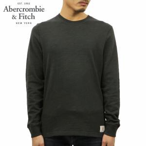 アバクロ ロンT メンズ 正規品 Abercrombie&Fitch 長袖Tシャツ クルーネックTシャツ LONG-SLEEVE CREW TEE 124-228-0236-900|mixon