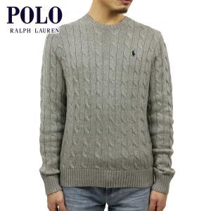 ポロ ラルフローレン セーター メンズ 正規品 POLO RALPH LAUREN ケーブルニット クルーネックセーター CABLE-KNIT COTTON SWEATER|mixon