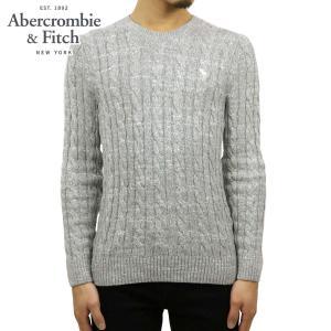 アバクロ セーター メンズ 正規品 Abercrombie&Fitch ケーブルニット クルーネックセーター  ICON CABLE KNIT SWEATER 120-201-1569-110|mixon