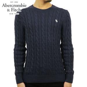 アバクロ セーター メンズ 正規品 Abercrombie&Fitch ケーブルニット クルーネックセーター  ICON CABLE KNIT SWEATER 120-201-1569-200|mixon