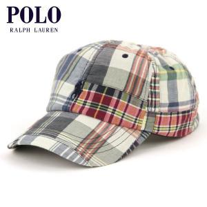 ポロ ラルフローレン キャップ メンズ 正規品 POLO RALPH LAUREN 帽子 ポニー刺繍 チェック柄 POLO MADRAS PATCHWORK CHINO BASEBALL CAP mixon