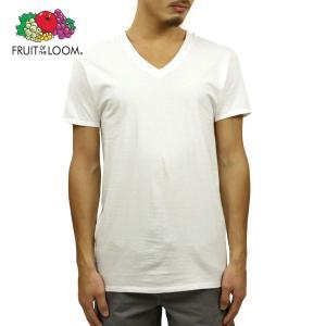 フルーツオブザルーム Tシャツ メンズ 正規品 FRUIT OF THE LOOM VネックTシャツ 半袖Tシャツ アンダーウェア 下着 Men's Shirts - Classic V-Neck WHITE|mixon