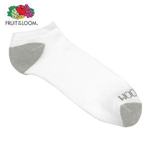 フルーツオブザルーム ソックス メンズ 正規品 FRUIT OF THE LOOM 靴下 フットカバー MEN'S NO SHOW SOCKS WHITE M7113W6Z Size.7-12|mixon