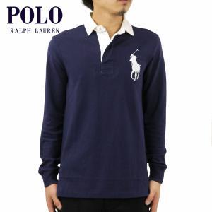 ポロ ラルフローレン ラガーシャツ メンズ 正規品 POLO RALPH LAUREN 長袖ラガーシャツ ビッグポニー BIG PONY RUGBY SHIRT|mixon