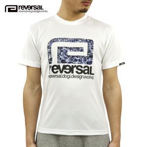 予約商品 4月頃入荷予定 リバーサル Tシャツ 正規販売店 REVERSAL 半袖Tシャツ クルーネック メッシュ地 MINAMO BIG MARK DRY MESH TEE rv20ss013 WHITE|mixon