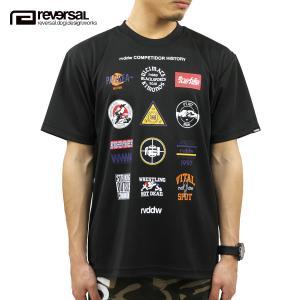 予約商品 5月頃入荷予定 リバーサル Tシャツ 正規販売店 REVERSAL 半袖Tシャツ クルーネック メッシュ地 ALL STAR MARK DRY MESH TEE rv20ss019 BLACK|mixon