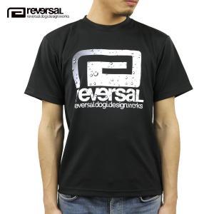 予約商品 5月頃入荷予定 リバーサル Tシャツ 正規販売店 REVERSAL 半袖Tシャツ クルーネック メッシュ地 WATER DROPS LOGO DRY MESH TEE rv20ss020 BLACK|mixon