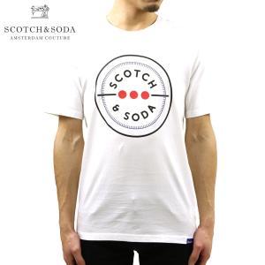 スコッチアンドソーダ Tシャツ 正規販売店 SCOTCH&SODA 半袖Tシャツ クルーネックTシャツ ロゴ SCOTCH&SODA CREW NECK LOGO TEE D 153625 0006 14417 00|mixon