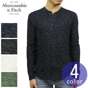 アバクロ Tシャツ メンズ 正規品 Abercrombie&Fitch 長袖Tシャツ ヘンリーネックTシャツ TEXTURED LONG-SLEEVE HENLEY|mixon