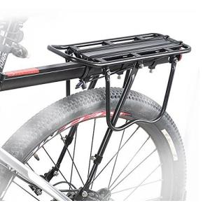 B035』 工具付き! 自転車荷台最大25Kg可・後付けリアキャリア、パニアバッグ対応!シートポスト...