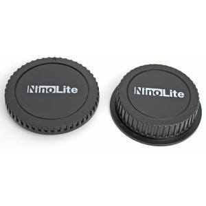 TKG」 NinoLite キャノン EFマウントレンズ用リアキャップとEOSカメラボディ用キャップの2個セット|mixy4