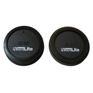 TKG」 NinoLite オリンパスOMマウントレンズ用リアキャップと カメラボディ用キャップの2個セット|mixy4