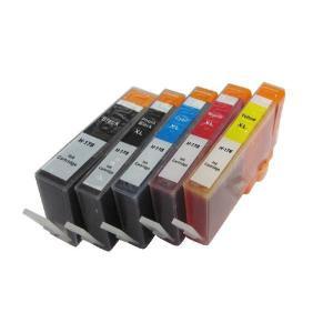 【5色マルチパック・ICチップ月】HP178XL増量タイプ互換インク/C309a・C5380・C6380・D5460等対応|mixy4