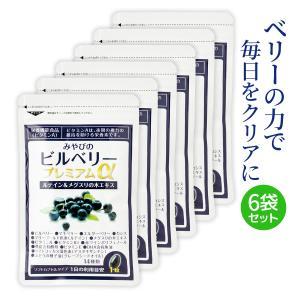 ビルベリープレミアムα ルテイン&ビタミンA配合 6袋セット 目のサプリメント 栄養機能食品|miyabi-store