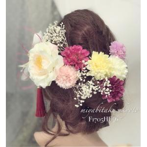 【F1705HE46】ホワイト&ピンク?ヘッドドレス/髪飾り...