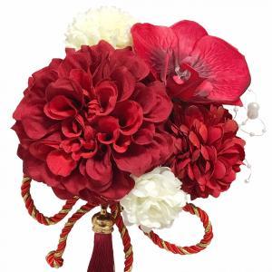 【F1705HE77】赤・ヘッドドレス/髪飾り・結婚式・パー...