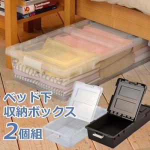ベッド下収納 プラスチック 収納ケース すき間収納 2個組|miyaguchi