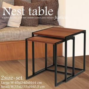 ネストテーブル 大小セット サイドテーブル おしゃれ テーブル 送料無料|miyaguchi