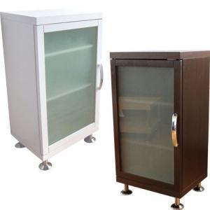 キャビネット ガラス扉付き スリム シンプル 本棚 食器棚 3段|miyaguchi
