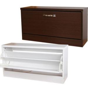 シューズボックス 靴箱 下駄箱 玄関収納 幅80 / スリム フラップシューズボックス 1段|miyaguchi