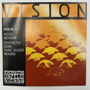 ヴァイオリン弦 VISION(ヴィジョン)D 1/2サイズ用 ※メール便対応|miyaji-onlineshop