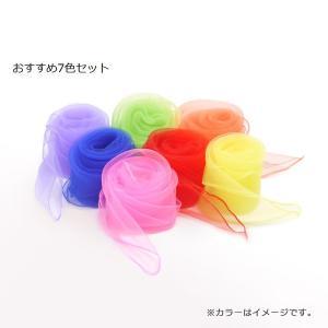 日本製/リトミック[専用]スカーフ7色セット /リズムであそぶ、かんたんリトミック/安心素材ナイロンジョーゼット