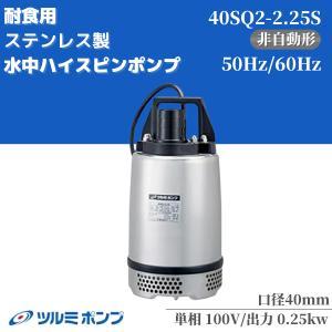 ツルミポンプ 非自動 耐蝕用水中ハイスピンポンプSQ型 40SQ2.25S 50HZ/60HZ|miyakeki